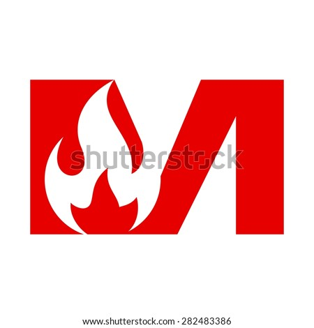 Fire Letter Form Word Mark Logotype Stock Vector 282483386 ...