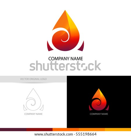 fire logo concept for your company, vector logotype