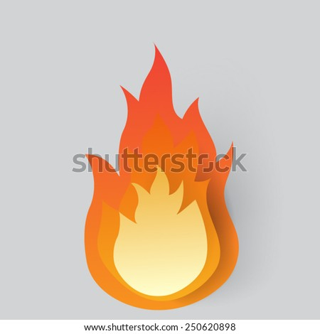 fire on background