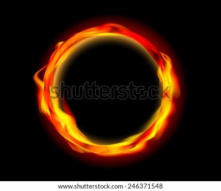 fire ring vector  - stock vector