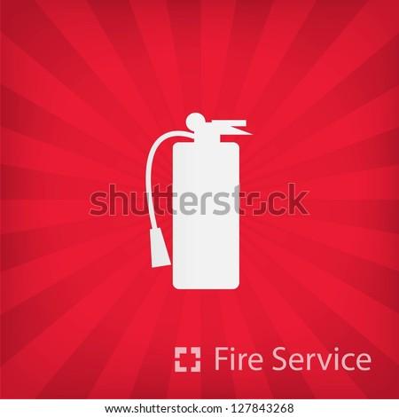 Fire Service icon 8 - stock vector