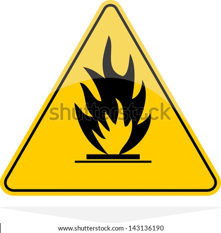 Fire sign, vector - stock vector