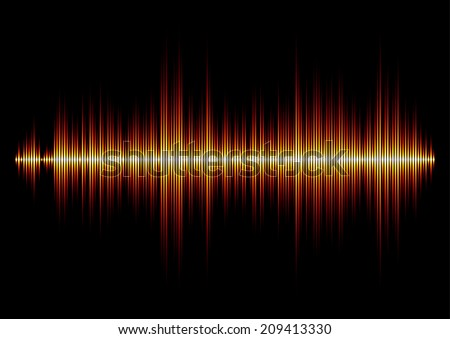 Fire styled music waveform with sharp edges - stock vector