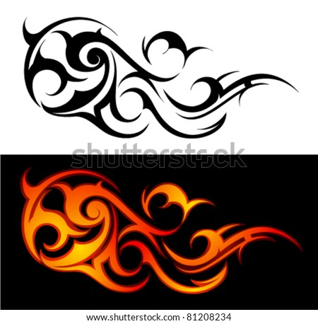Tribal Flames Stock Photos Images Amp Pictures Shutterstock