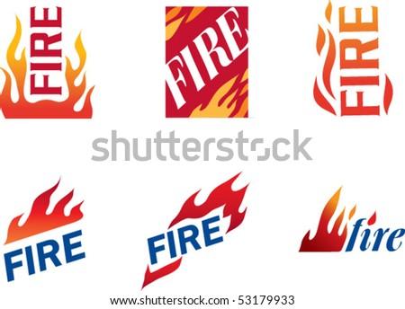 fire symbol #2 - stock vector
