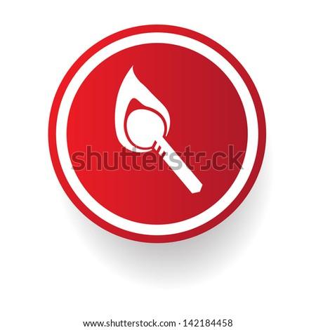 Fire symbol,vector - stock vector