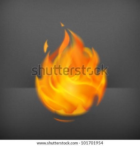 Fire, vector - stock vector