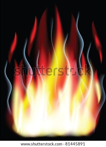 Fire,vector ,used mesh.