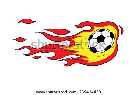 fireball - stock vector