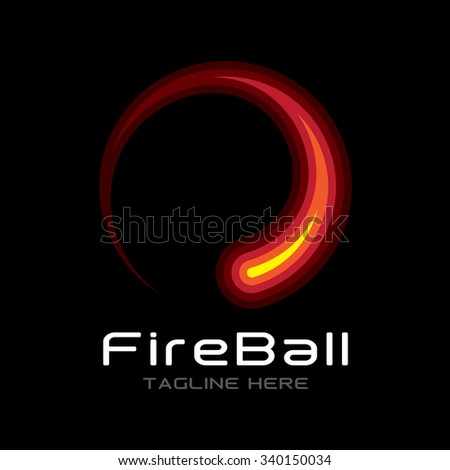 FireBall Icon Logotype Elements