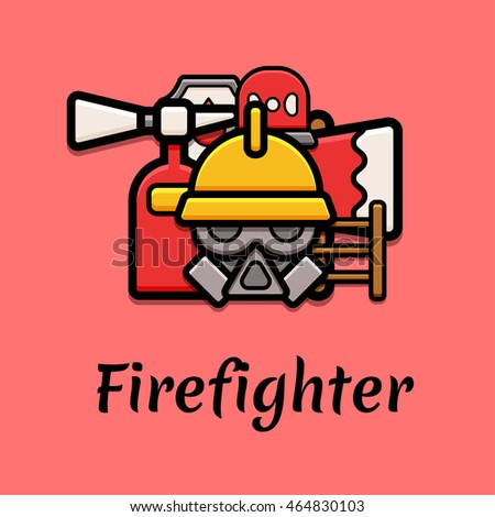 Firefighter concept graphic