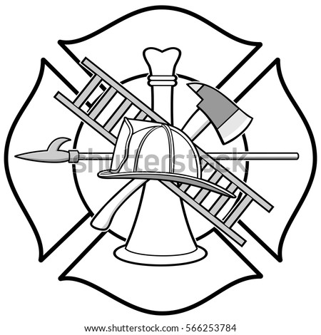 firefighter badge stock images, royalty-free images & vectors ... - Firefighter Badges Coloring Pages