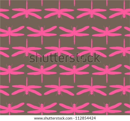 firefly seamless pattern - stock vector
