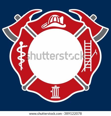 fireman emblem fire department symbol logo stock vector 389122114