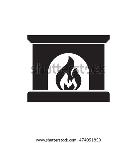 Fireplace Stock Vector 485605117 - Shutterstock