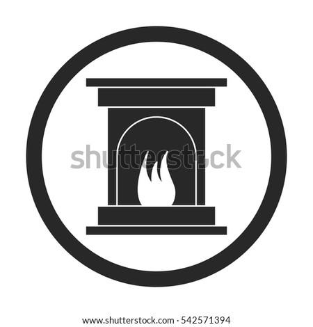 Fireplace Silhouette Banco de imágenes. Fotos y vectores libres de ...