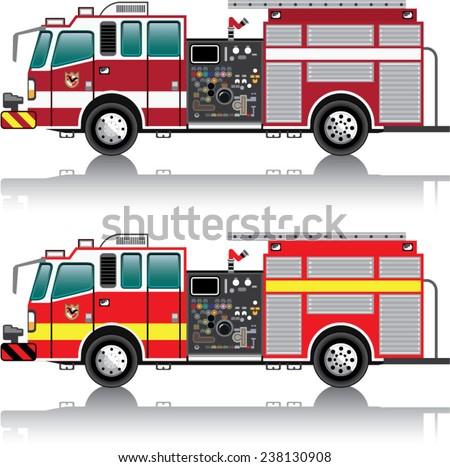 Firetruck Vector - stock vector