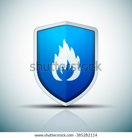 Firewall shield sign - stock vector