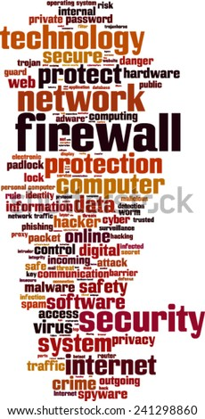 Firewall word cloud concept. Vector illustration - stock vector