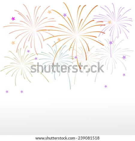 firework background, can be ues for celebration, party, and new year event  - stock vector