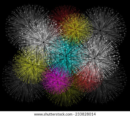 fireworks background for happy new year