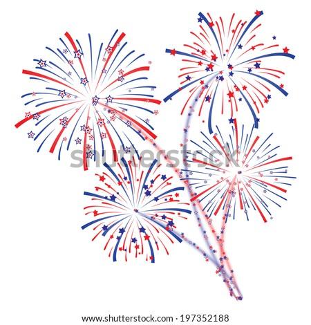 Fireworks display - stock vector