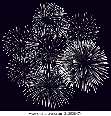 Fireworks Display for New year and all celebration vector illustration