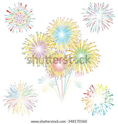 Fireworks vector illustration - stock vector