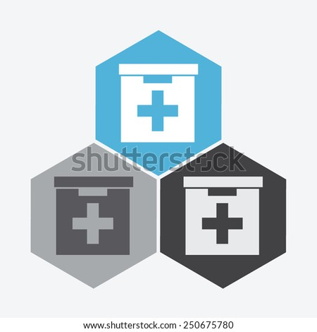 First aid box icon. - stock vector