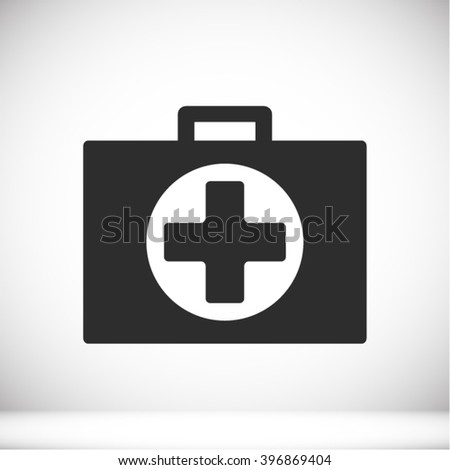 First aid box Icon - stock vector