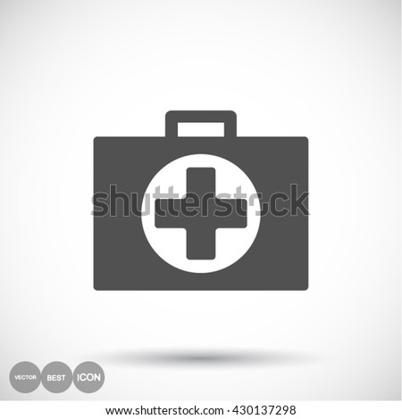 First aid box Icon, first aid box icon flat, first aid box icon picture, first aid box icon vector, first aid box icon EPS10, first aid box icon graphic, first aid box icon object, - stock vector