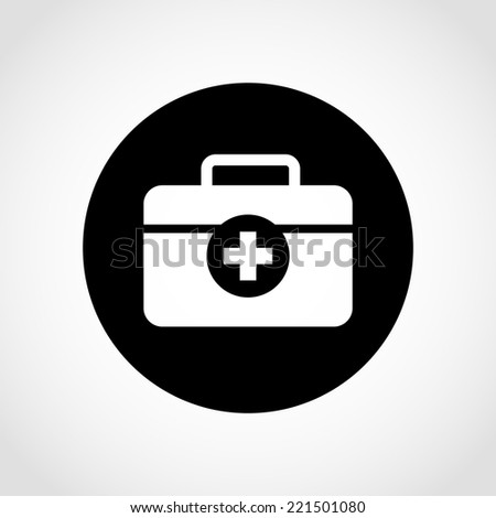 First aid box Icon Isolated on White Background - stock vector