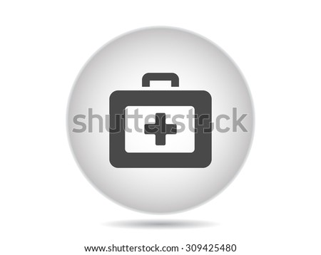first aid box vector icon - stock vector