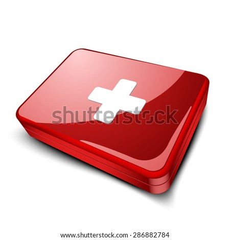 First Aid Case - stock vector