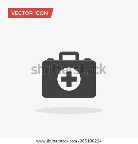 First aid Icon in trendy flat style isolated on grey background. Medical symbol for your web site design, logo, app, UI. Vector illustration, EPS10. - stock vector