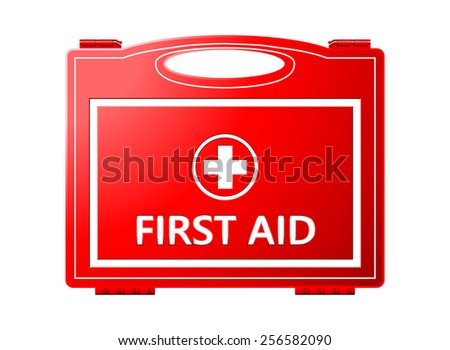 First Aid Kit; Medical Equipment Background - stock vector