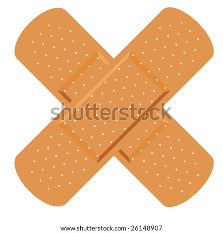 first aid medical plaster - stock vector