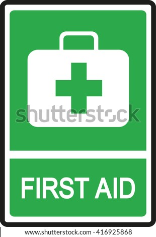 First Aid sign vector - stock vector