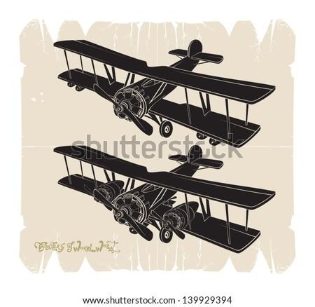 First big bombers, vector - stock vector