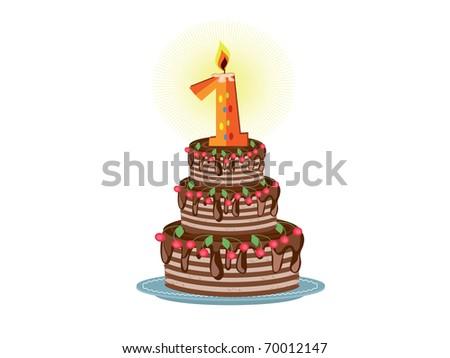 First birthday - stock vector