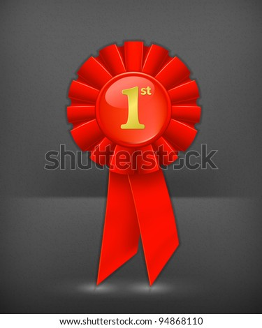 First place red ribbon  First Place Ribbon Red