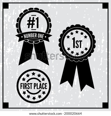 First Place Ribbons - stock vector