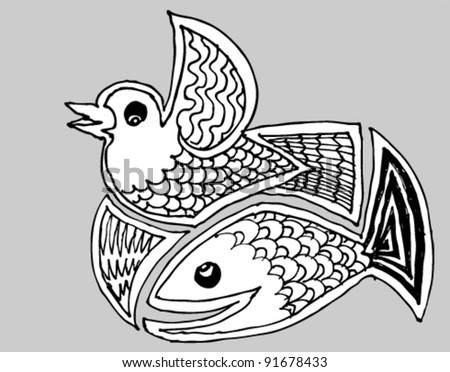 fish and bird
