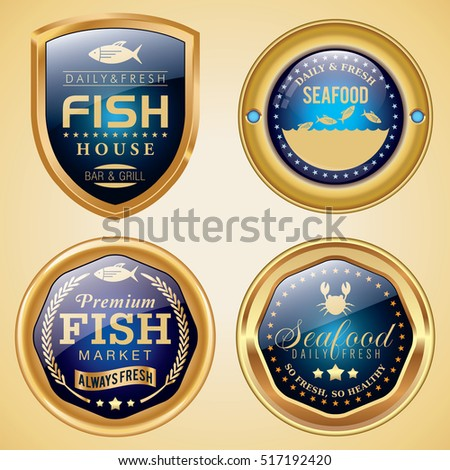 Fish and Seafood Market badges
