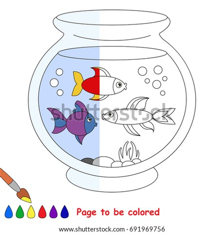 Fish Aquarium The Coloring Book To Educate Preschool Kids With Easy Gaming Level