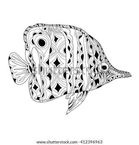 fish blue vector pattern