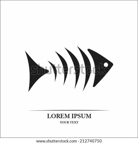 Fish bone - stock vector