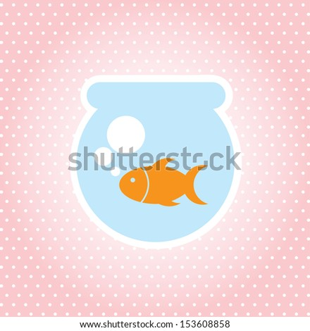 fish design over dotted background vector illustration  - stock vector