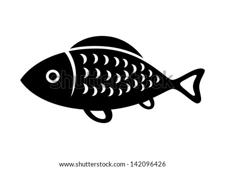 fish icon stock vector 2018 142096426 shutterstock rh shutterstock com vector fish art vector fishing rod