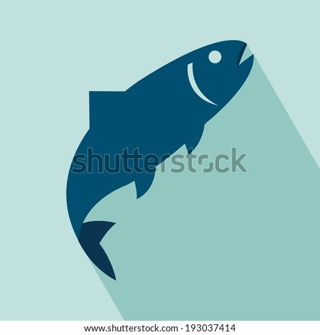 Fish Icon. EPS 10 vector illustration for design. Elements for design.